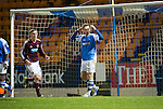 St Johnstone v Hearts..15.12.12      SPL.Steven MacLean holds his head after a missed chance.Picture by Graeme Hart..Copyright Perthshire Picture Agency.Tel: 01738 623350  Mobile: 07990 594431