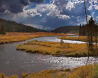 Fall along the Lewis River, just before it joins the Snake River along the South Entrance road in Yellowstone.