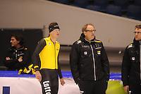 SCHAATSEN: HEERENVEEN: 30-10-2014, IJsstadion Thialf, Topsporttraining, Sven Kramer, Jac Orie (trainer Team LottoNL/ - Jumbo), ©foto Martin de Jong