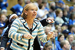 03 March 2013: UNC head coach Sylvia Hatchell. The Duke University Blue Devils played the University of North Carolina Tar Heels at Cameron Indoor Stadium in Durham, North Carolina in a 2012-2013 NCAA Division I and Atlantic Coast Conference women's college basketball game. Duke won the game 65-58.