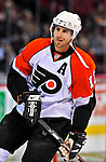 18 December 2008: Philadelphia Flyers' left wing forward Simon Gagne warms up prior to facing the Montreal Canadiens at the Bell Centre in Montreal, Quebec, Canada. The Canadiens look to avoid a four-game slide, while the Flyers seek their sixth win in a row. The Canadiens defeated the Flyers 5-2. ***** Editorial Sales Only ***** Mandatory Photo Credit: Ed Wolfstein Photo