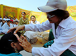 Students at Talitha Kumi Center in Lahore, Pakistan, perform a play. The doctor putting a bandaid on is a quack doctor; the play focuses on getting at real causes of problems, including marginalization and violence against women. The Center is sponsored by the Church of  Pakistan.