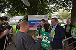 Green Party Co-leader, MP Caroline Lucas helps Larry Sanders, Brother of Senator Bernie Sanders,  to  launch <br /> his campaign to stand as Green Party MP candidate for Witney,  following David Cameron standing down from his Witney seat.