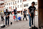 Senior Service Day in Boston's Chinatown. (Alonso Nichols/Tufts University)