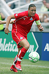 20 June 2009: Abby Wambach (20) of the Washington Freedom.  Saint Louis Athletica were defeated by the visiting Washington Freedom  0-1 in a regular season Women's Professional Soccer game at AB Soccer Park, in Fenton, MO.