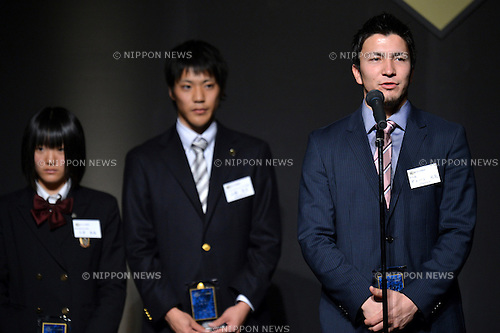 Genki Dean (JPN),.DECEMBER 13,2012 - Athletics : JAAF Athletic Award 2012 durinng rookie of the year 2012 at Cerulean Tower Tokyu Hotel, Tokyo, Japan. (Photo by Jun Tsukida/AFLO SPORT) [0003].