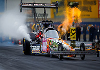 Oct 1, 2016; Mohnton, PA, USA; NHRA top fuel driver Terry McMillen during qualifying for the Dodge Nationals at Maple Grove Raceway. Mandatory Credit: Mark J. Rebilas-USA TODAY Sports
