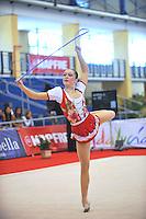 Silviya Miteva of Bulgaria performs with rope during event finals at 2010 Grand Prix Marbella at San Pedro Alcantara, Spain on May 16, 2010.  Silviya placed 9th AA at Marbella. (Photo by Tom Theobald).