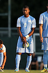 28 August 2015: North Carolina's Jordan McCrary. The University of North Carolina Tar Heels hosted the Florida International University Panthers at Fetzer Field in Chapel Hill, NC in a 2015 NCAA Division I Men's Soccer match. North Carolina won the game 1-0