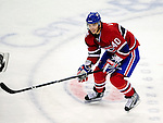 17 October 2009: Montreal Canadiens center Maxim Lapierre in action against the Ottawa Senators at the Bell Centre in Montreal, Quebec, Canada. The Senators defeated the Canadiens 3-1. Mandatory Credit: Ed Wolfstein Photo