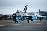 MiG-21 F of the 95th Air Force Base from the Romanian Air Force. BOLD AVENGER 2007 (BAR 07), a NATO  air exercise at Ørland Main Air Station, Norway. BAR 07 involved air forces from 13 NATO member nations: Belgium, Canada, the Czech Republic, France, Germany, Greece, Norway, Poland, Romania, Spain, Turkey, the United Kingdom and the United States of America..The exercise was designed to provide training for units in tactical air operations, involving over 100 aircraft, including combat, tanker and airborne early warning aircraft and about 1,450 personnel.