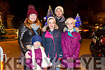Ann Marie Bright, Grace Bright, Scarlett Bright, Isabella  Bright, Mark Bright from Lixnaw at the fireworks on Denny Street on Saturday night