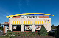 McDonalds retaurant exterior.
