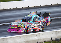 Jun 4, 2016; Epping , NH, USA; NHRA funny car driver Courtney Force during qualifying for the New England Nationals at New England Dragway. Mandatory Credit: Mark J. Rebilas-USA TODAY Sports