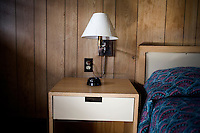 Details of a room at the Motel Caswell in Tewksbury, Massachusetts, USA, on Tuesday, Oct. 11, 2011. The motel is owned by Russell Caswell. Caswell's father built the motel in the 1950s. Now, conservative activitists are trying to use federal asset-forfeiture laws to seize the motel, saying that the motel is used by drug dealers to conduct business.  The legal challenge intends to show evidence tying the property to crimes in order to seize the motel.....CREDIT: M. Scott Brauer for the Wall Street Journal.slug: FORFEIT