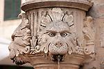Fountain with three heads in Dubrovnik, Croatia.