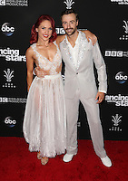 "Los Angeles, CA - NOVEMBER 22: Sharna Burgess, James Hinchcliffe, At ABC's ""Dancing With The Stars"" Season 23 Finale At The Grove, California on November 22, 2016. Credit: Faye Sadou/MediaPunch"