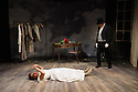 London, UK. 24.10.2014. THE GRAND-GUIGNOL, by Carl Grose, opens at Southwark Playhouse. Picture shows:  Robert Portal (Gateau) and Emily Raymond (Maxa). Photograph © Jane Hobson.