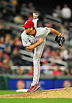 29 September 2010: Philadelphia Phillies' pitcher Brad Lidge on the mound against the Washington Nationals at Nationals Park in Washington, DC. The Phillies defeated the Nationals 7-1 to take the rubber game of their 3-game series. Mandatory Credit: Ed Wolfstein Photo