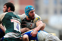 Graham Kitchener of Leicester Tigers in action at a maul. Aviva Premiership match, between Leicester Tigers and Saracens on March 20, 2016 at Welford Road in Leicester, England. Photo by: Patrick Khachfe / JMP