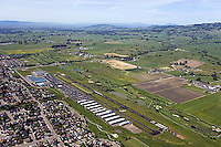 aerial photograph Petaluma Municipal Airport, Sonoma county, California