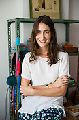 French Designer, Fanny Boucher of Honorine Jewels poses for a portrait in her studio in Jaipur, Rajasthan, India.