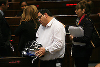 Education Minister Shai Piron during a plenum session voting on the state budget, in the Knesset, Israel's Parliament, in Jerusalem, late night July 29, 2013. The Knesset approved the State Budget at second and third readings in the early hours of Tuesday morning in a 58-43 vote, following a 15-hour parliamentary session. Photo by Oren Nahshon