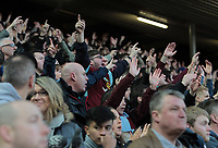 Burnley fans applauds their side at the final whistle<br /> <br /> Photographer Rich Linley/CameraSport<br /> <br /> The Premier League - Liverpool v Burnley - Sunday 12 March 2017 - Anfield - Liverpool<br /> <br /> World Copyright &copy; 2017 CameraSport. All rights reserved. 43 Linden Ave. Countesthorpe. Leicester. England. LE8 5PG - Tel: +44 (0) 116 277 4147 - admin@camerasport.com - www.camerasport.com