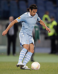 Calcio, Europa League: Lazio vs Panathinaikos. Roma, stadio Olimpico, 8 novembre 2012..Lazio forward Sergio Floccari in action during the Europa League Group J football match between Lazio and Panathinaikos, at Rome's Olympic stadium, 8 november 2012..UPDATE IMAGES PRESS/Riccardo De Luca