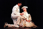 1998 - MADAME BUTTERFLY - Romantic scene between Navy Lieutenant Pinkerton (Craig Sirianni) and Madame Butterfly (Paula Delligatti) during Opera Pacifics 'Madame Butterfly' performance.  Photo by Nick Koon/The Orance County Register.