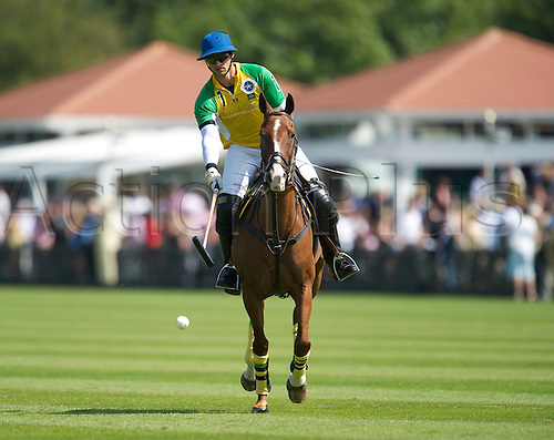 24.7.2011 Rodrigo Andrade 8 of The Equus sponsored 29 goal Brazil team durin the 100th Coronation Cup on Cartier International Day 2011at Guards Polo Club, Smith's Lawn, Windsor Great Park, Egham, Surrey, England on 24 July 2011.