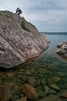 The rugged shoreline of Lake Superior at Marquette Michigan's Partridge Island.