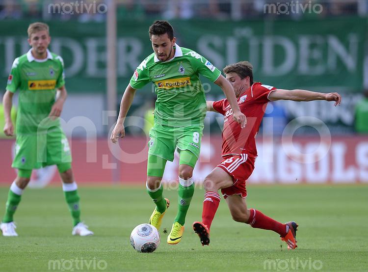 FUSSBALL  1. Bundesliga   2013/2014   Testspiel  FC Ingolstadt 04 - Borussia Moenchengladbach    13.07.2013 Lukas Rupp (li, Borussia Moenchengladbach) gegen Andreas Buchner (re, FC Ingolstadt 04)