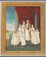 BNPS.co.uk (01202 558833)<br /> Pic: Christie's/BNPS<br /> <br /> ***Please use full byline***<br /> <br /> An oil on canvas of Nawab Shuja'al-Dawla and his ten sons by British Artist Tilly Kettle.<br /> <br /> Interior designer Tessa Kennedy with Rudolph Nureyev.<br /> <br /> An interior designer to the stars is selling virtually the entire contents of her multi-million pounds London apartment that she is moving out of.<br /> <br /> Tessa Kennedy's client list for home makeovers has included Elizabeth Taylor, George Harrison and Pierce Brosnan as well as famous hotels like the Ritz and Claridges.<br /> <br /> During her jet-set career, she acquired opulent pieces of furniture, art work and ornaments from around the world that she filled her town and country residence with.<br /> <br /> Now aged 75, Miss Kennedy no longer requires her three-bed Knightsbridge flat and is auctioning off most of its contents in a unique sale at Christie's.
