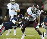 Texas A&amp;M running back Ben Malena (1) is tackled by Mississippi linebacker Denzel Nkemdiche (4) in Oxford, Miss. on Saturday, October 6, 2012. (AP Photo/Oxford Eagle, Bruce Newman)..
