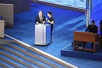 PHILADELPHIA, PA - JULY 25: Al Franken and Sarah Silverman at the 2016 Democratic National Convention at The Wells Fargo Center in Philadelphia, Pennsylvania on July 25, 2016. Credit: Star Shooter/MediaPunch