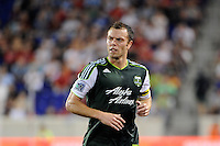 Jack Jewsbury (13) of the Portland Timbers. The New York Red Bulls defeated the Portland Timbers 2-0 during a Major League Soccer (MLS) match at Red Bull Arena in Harrison, NJ, on September 24, 2011.