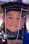 Mongolian girl in traditional dress, Mongolia
