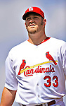 10 March 2010: St. Louis Cardinals' pitcher Brad Penny returns to the dugout during a Spring Training game against the Washington Nationals at Roger Dean Stadium in Jupiter, Florida. The Cardinals defeated the Nationals 6-4 in Grapefruit League action. Mandatory Credit: Ed Wolfstein Photo
