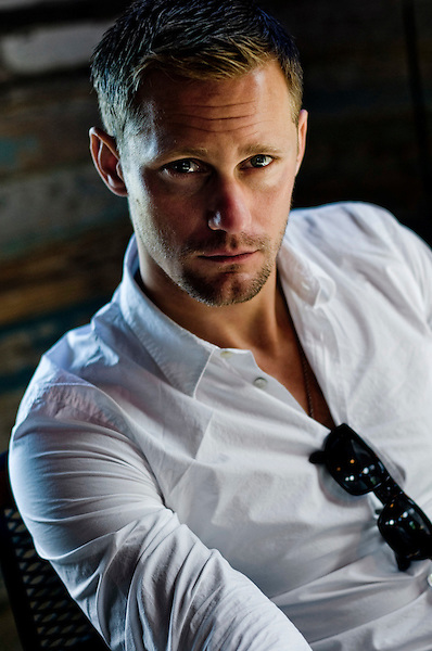 Swedish actor Alexander Skarsg&aring;rd photographed during the filming of Straw Dogs in Shreveport, Louisiana..Photographer Chris Maluszynski /MOMENT