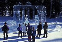 Ice sculpture at the World Ice Art Championships in Fairbanks, Alaska.