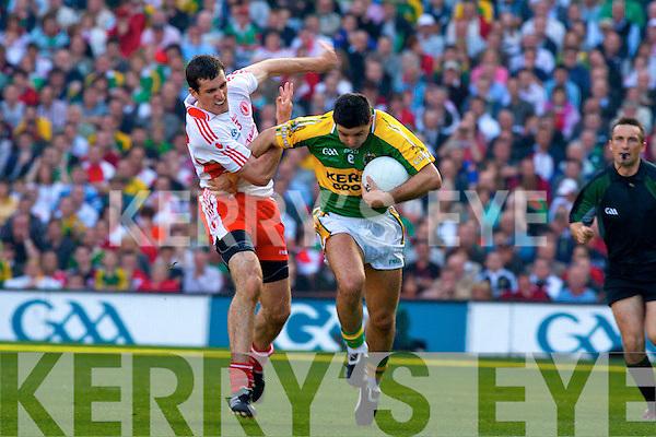 Kerry v Tyrone All ireland Final 2008 at Croke Park Dublin 21st September 2008. Aidan O'Mahony,  Justin McMahon