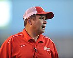 Lafayette High head coach Anthony Hart vs. Laurel in the MHSAA Class 4A championship game at Mississippi Veterans Memorial Stadium in Jackson, Miss. on Saturday, December 3, 2011. Lafayette won 39-29, the team's 32 straight win, to capture their second consecutive state championship.