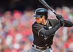 15 May 2016: Miami Marlins outfielder Christian Yelich at bat against the Washington Nationals at Nationals Park in Washington, DC. The Marlins defeated the Nationals 5-1 in the final game of their 4-game series.  Mandatory Credit: Ed Wolfstein Photo *** RAW (NEF) Image File Available ***