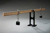 POINT OF ROTATIONAL EQUILIBRIUM<br /> Masses on a meter stick and  angular velocity <br /> A 100g mass is suspended on the meter stick at 20cm mark.  Another 100g mass is suspended at a point where the sum of all torques acting on the system equals zero producing constant angular velocity which is zero.