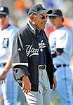 11 March 2009: New York Yankees' Hall of Fame Legend, and pop icon Yogi Berra mingles with player on the field after a Spring Training game against the Detroit Tigers at Joker Marchant Stadium in Lakeland, Florida. The Tigers defeated the Yankees 7-4 in the Grapefruit League matchup. Mandatory Photo Credit: Ed Wolfstein Photo