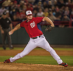 10 March 2014: Washington Nationals pitcher Aaron Barrett on the mound during a Spring Training game against the Houston Astros at Space Coast Stadium in Viera, Florida. The Astros defeated the Nationals 7-4 in Grapefruit League play. Mandatory Credit: Ed Wolfstein Photo *** RAW (NEF) Image File Available ***