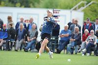 KAATSEN: SINT JACOB: 19-06-2016, Dames Hoofdklasse Vrije formatie, Ilse Tuinenga, Sjoukje Visser (slaat de bal) en Wiljo Sijbrandij, ©foto Martin de Jong
