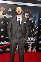 "LOS ANGELES - APR 11:  Chris Evans arrives at ""The Avengers"" Premiere at El Capitan Theater on April 11, 2012 in Los Angeles, CA"