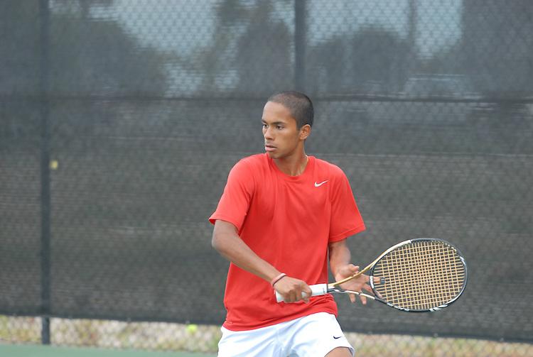 April 25, 2012; San Diego, CA, USA; Gonzaga Bulldogs athlete Muzeen Ismath during the WCC Tennis Championships at the Barnes Tennis Center.